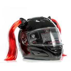 Clown Red Motorcycle Helmet Pigtails