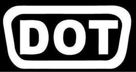 DOT Motorcycle Helmet Sticker