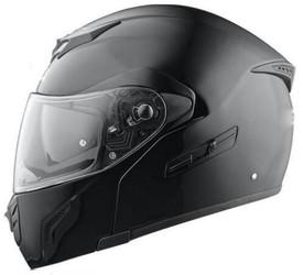 BMF-2 - Modular Full Face Black Motorcycle Helmet