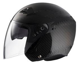 RK6C - Carbon Fiber DOT Motorcycle Helmet RK-6 Open Face with Flip Shield