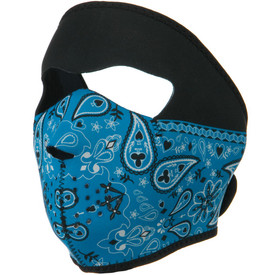 Blue Paisley Bandanna Neoprene Face Mask Side