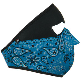 Blue Paisley Bandanna Neoprene Face Mask Right Side