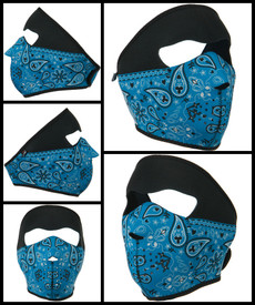 Blue Paisley Bandana Neoprene Face Mask