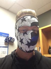 Thin Blue Line Neoprene Face Mask