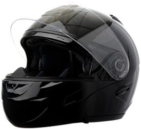 DOT Double Retractable Visor Modular Motorcycle Helmet Closed