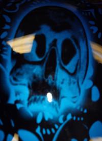 Close ups of side skull