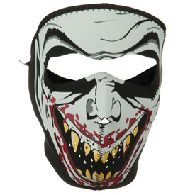 Glow in the Dark Vampire Neoprene Face Mask Front