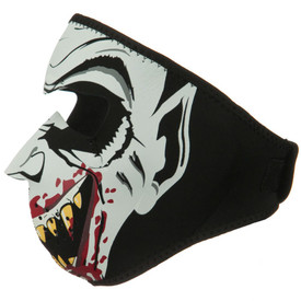 Glow in the Dark Vampire Neoprene Face Mask Left Side