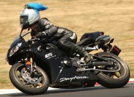 Blue Helmet Pigtails in action