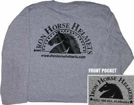 Grey  Iron Horse Helmets T-shirt