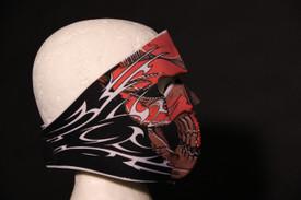 Red Tribal Skull Face Mask