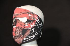 Red Tribal Skull Face Masks