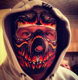 Customer photo of Red Evil Skull Neoprene Face Mask
