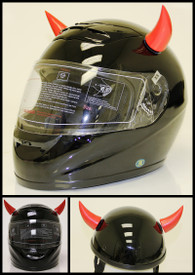 Iron Horse Helmets Red Helmet Horns