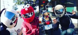Cartoon & friends Motorcycle Helmet Cover