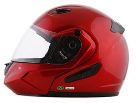 DOT Double Retractable Visor Wine Modular Motorcycle Helmet