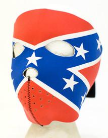 Rebel Flag Neoprene Face Mask