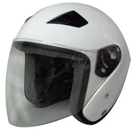 DOT ¾ Shell RK5 White Motorcycle Helmet with removable visor