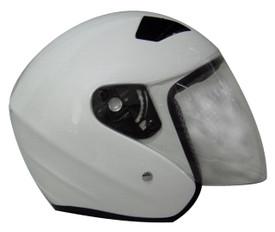 WHITE MOTORCYCLE HELMET