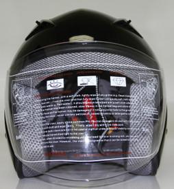DOT ¾ Shell RK5 Black Motorcycle Helmet with removable visor