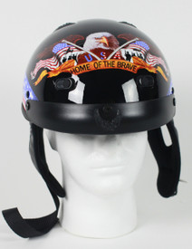 Home of the Brave Shorty Motorcycle Helmet
