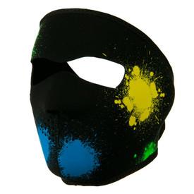Glow in the Dark Splatter Neoprene Face Mask