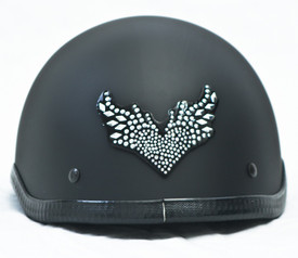 Rhinestone Helmet Patches Flying Heart