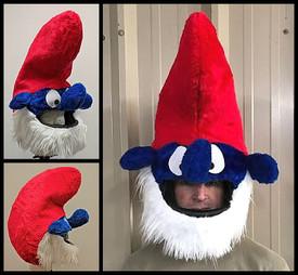 Papa Smurf Motorcycle Helmet Cover
