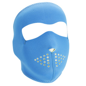 Neon Blue Reverses to Lime Neoprene Face Mask