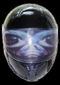 Alien Motorcycle Helmet Visor Sticker