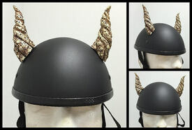 Motorcycle Helmet Bull Horns