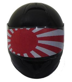 Japanese Flag Motorcycle Helmet Visors Sticker