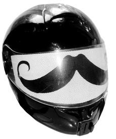 Mustache Motorcycle Helmet Visors Sticker