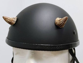 Small Bone Motorcycle Helmet Devil Horns