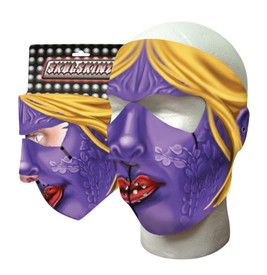 Purple Woman Neoprene Face Mask