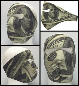 Hundred Dollar Bill Neoprene Face Mask