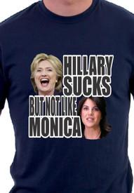 Hillary Sucks But Not Like Monica TShirt