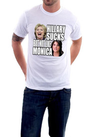 Hillary Sucks But Not Like Monica T-Shirt