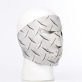 Metal Diamond Plate Neoprene Face Mask