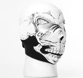Skulskinz 3D Black & White Skull Full Neoprene Face Mask