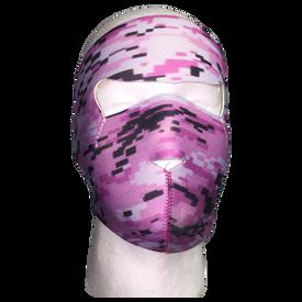 Digital Pink Neoprene Full Face Mask