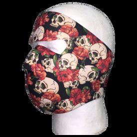 Skull and Roses Full Face Mask