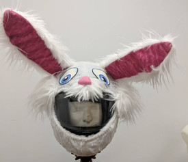 Bunny Rabbit Motorcycle Helmet Cover
