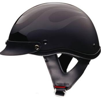 Black Flame Motorcycle Helmet