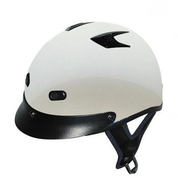 DOT White Motorcycle Helmet