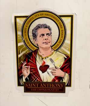 Saint Anthony Bourdain Sticker