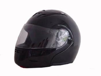 DOT Modular Full Face Black Motorcycle Helmet