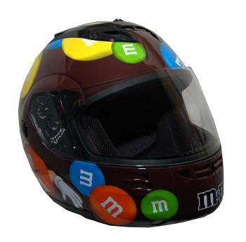 DOT Modular Full Face Brown M&M Motorcycle Helmet