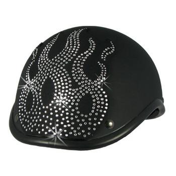 flame rhinestone helmet patch