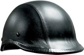 Leather Jockey Motorcycle Helmet
